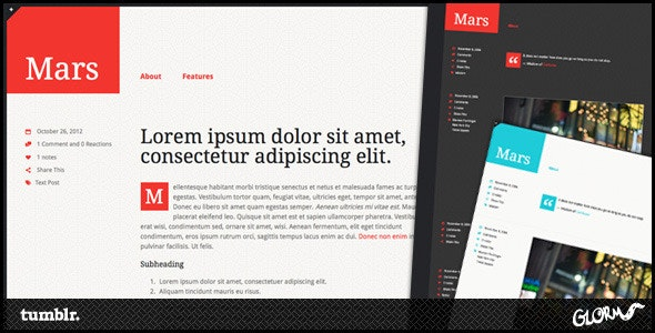 Mars Tumblr Theme - Blog Tumblr