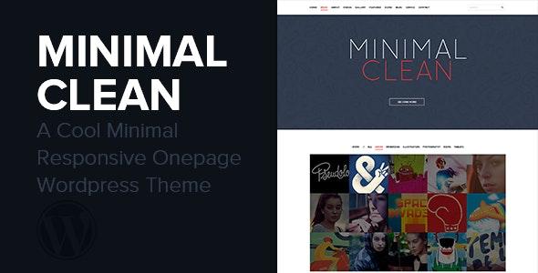 Minimal Clean - A Cool Onepage Wordpress Theme - Creative WordPress