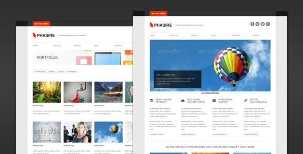 Phasire - Business and Portfolio WordPress Theme - Business Corporate