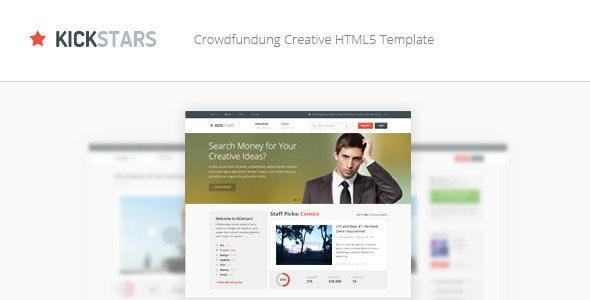 Kickstars - Crowdfunding HTML5 Template - Miscellaneous Site Templates
