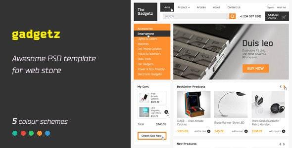 Gadgetz – PSD Template - Retail Photoshop