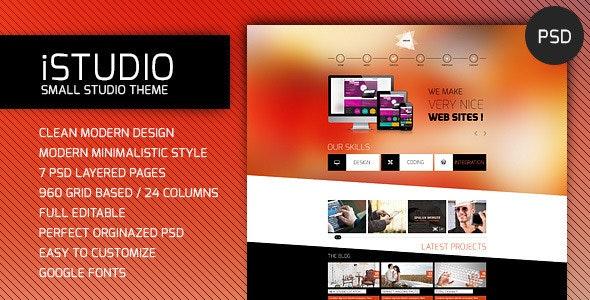 iSTUDIO - Portfolio PSD Template - Portfolio Creative