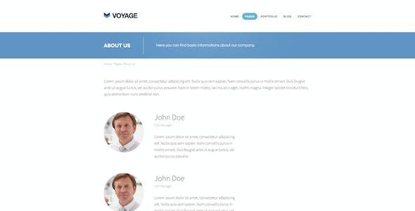 Voyage - Flat & Bold Designed Template