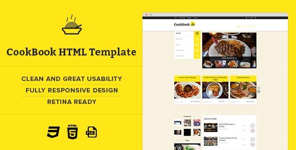 CookBook :: Retina Responsive Recipe HTML Template - Food Retail