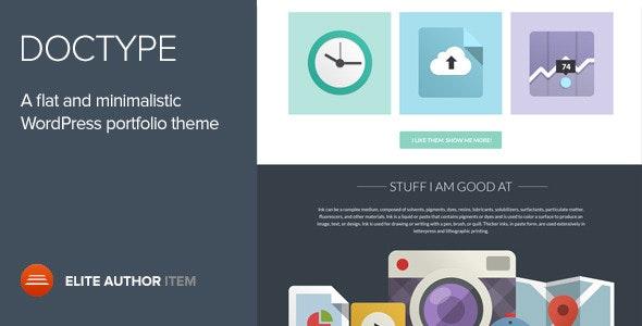 Doctype - A Flat and Minimal Portfolio Theme - Portfolio Creative