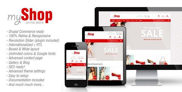 myShop - Responsive Drupal Commerce Theme - Drupal CMS Themes
