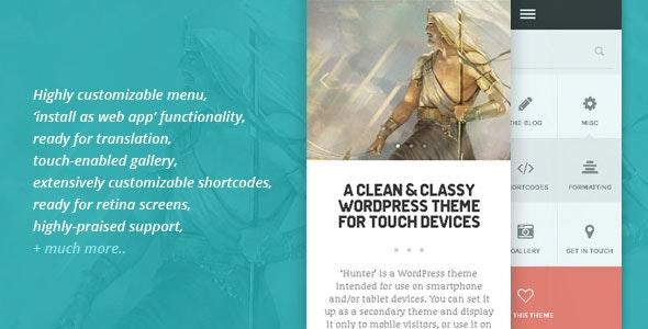 HUNTER - A clean & classy WordPress theme - Mobile WordPress