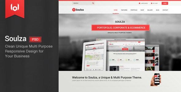 Soulza - Unique Premium Multi Purpose PSD Theme - Creative Photoshop
