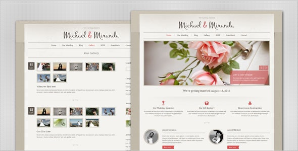 Wedding - Classic and Elegant WordPress Theme - Wedding WordPress