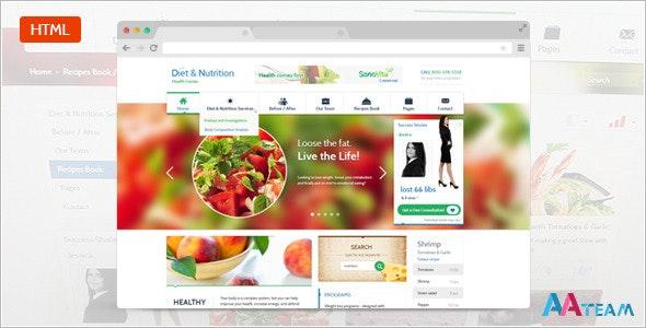 Diet & Nutrition Health Center - Responsive HTML5 - Health & Beauty Retail