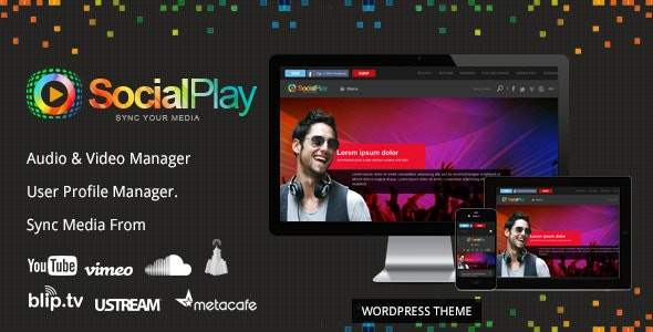 SocialPlay - Media Sharing WordPress Theme - Film & TV Entertainment