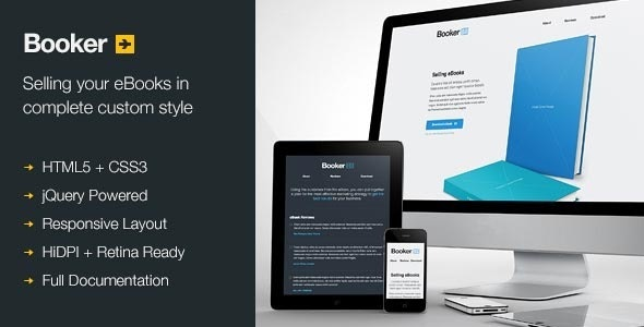 Booker - Selling eBooks - Landing Pages Marketing