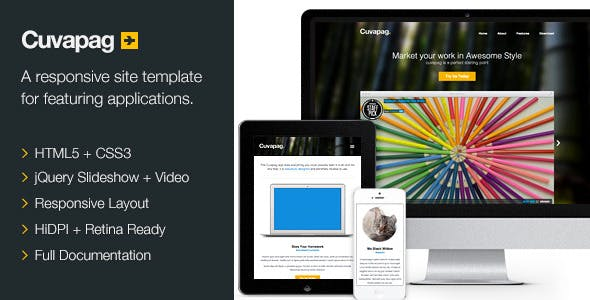 Cuvapag - Responsive Software and App Website