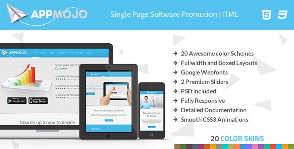 App Mojo - Software Landing Page HTML - Software Technology