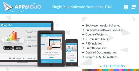 App Mojo - Software Landing Page HTML
