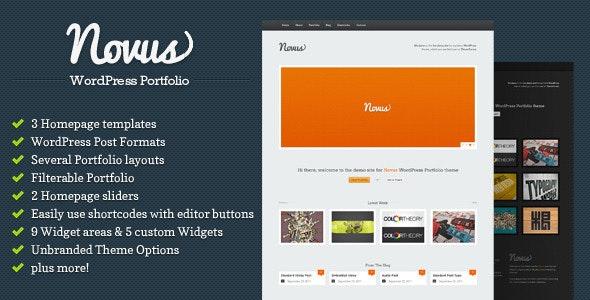 Novus - WordPress Portfolio - Portfolio Creative