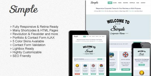 Simple : Responsive Muti-Purpose Corporate Template - Corporate Site Templates