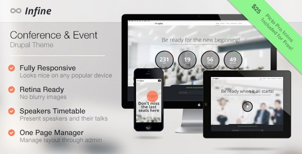 Infine - One Page Conference & Event Drupal Theme - Business Corporate