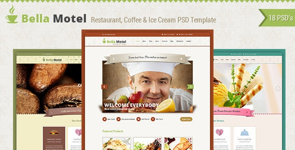 Bella - Restaurant and Bakery PSD Template - Restaurants & Cafes Entertainment