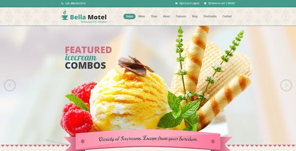 Bella - Restaurant and Bakery PSD Template