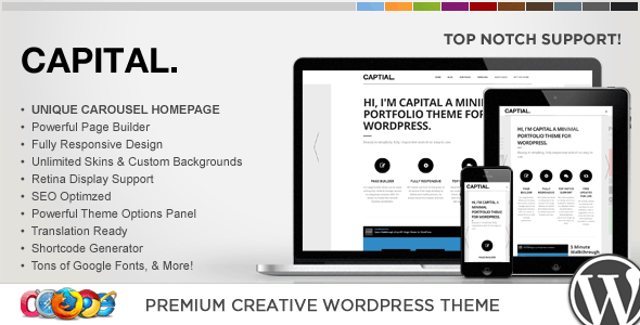 WP Capital Responsive Creative WordPress Theme - Portfolio Creative