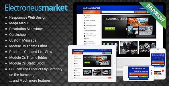 Electronics Store PrestaShop Theme - Computers, Laptops, Cameras, Cell phones   Presta Electronues - PrestaShop eCommerce