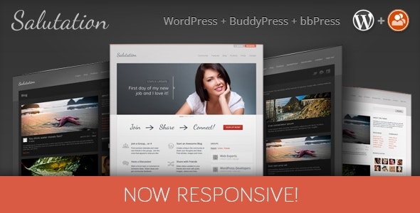 Salutation Responsive WordPress + BuddyPress Theme - BuddyPress WordPress