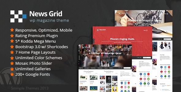 News Grid - WP Magazine Theme - News / Editorial Blog / Magazine
