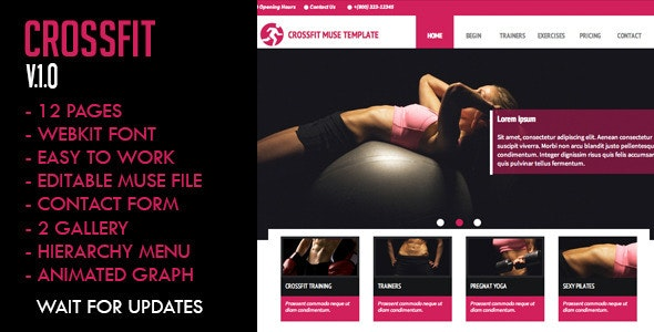 Crossfit Muse Template - Creative Muse Templates