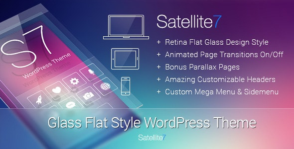 Satellite7 - Retina Multi-Purpose WordPress Theme - Corporate WordPress