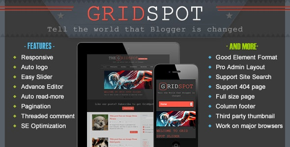 Grid Spot - Responsive Blogger Template - Blogger Blogging