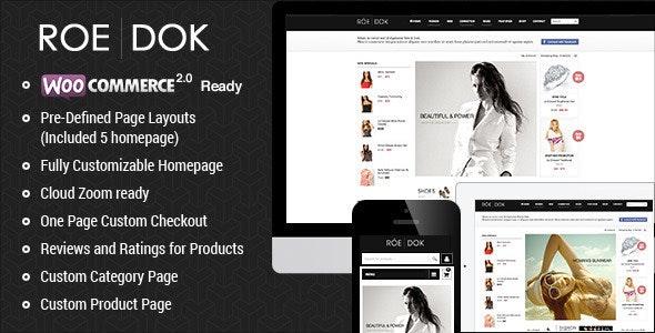 WooCommerce WordPress Theme - RoeDok - WooCommerce eCommerce