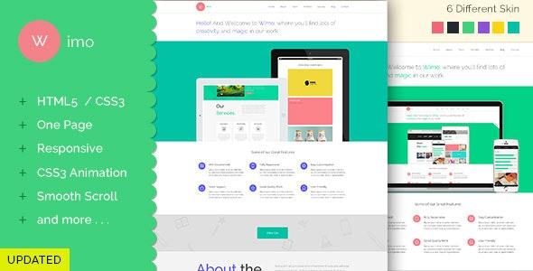 Wimo - One Page Responsive HTML Template - Portfolio Creative