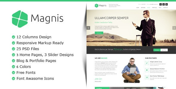 Magnis - Multipurpose PSD Template - Corporate Photoshop