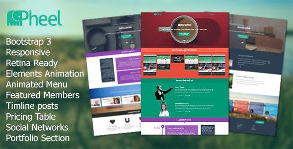 Pheel - Responsive Multi Purpose Bootstrap 3 Theme - Creative Site Templates