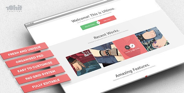 Ultimo - Multipurpose PSD Template - Creative Photoshop