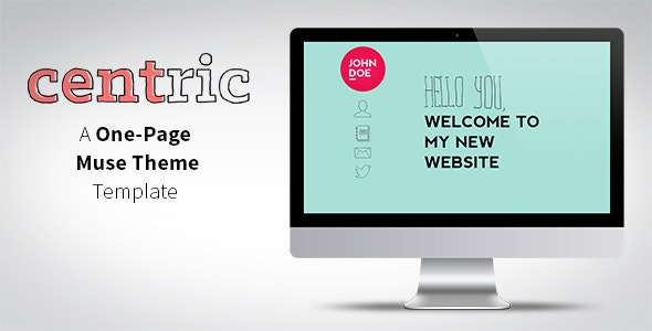 Centric - One Page Muse Theme - Creative Muse Templates