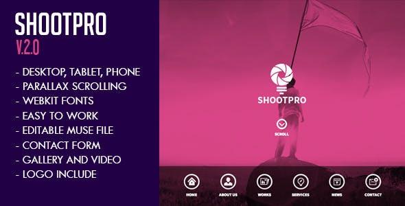 Shootpro Studios Muse Template 2.0 - Updated