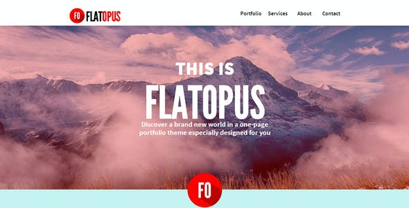 FlatOpus - One Page Muse Theme