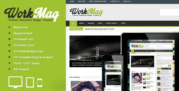 Workmag - Responsive Multipurpose Blogger Template - Blogger Blogging