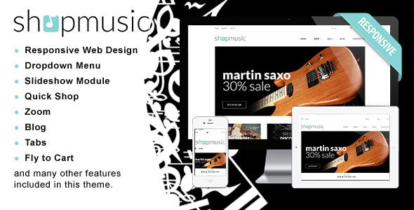 Responsive Shopify Theme - ShopMusic - Shopify eCommerce