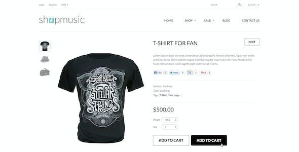Responsive Shopify Theme - ShopMusic