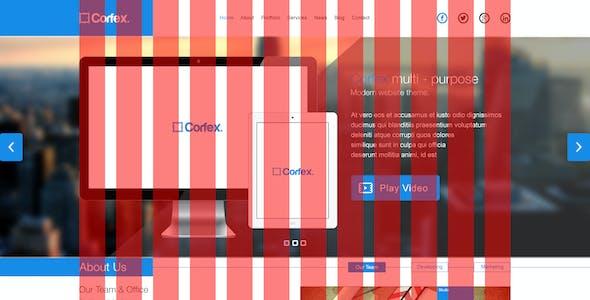 Corfex - Single Page PSD