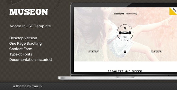 Museon One Page Muse Template - Corporate Muse Templates