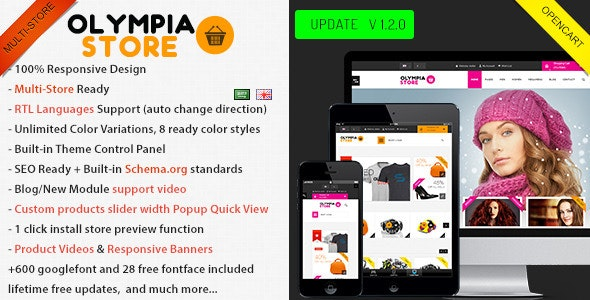 Olympia - Multi-Purpose Opencart Theme - OpenCart eCommerce