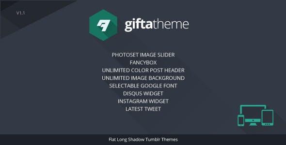 Gifta - Flat Long Shadow Tumblr Theme