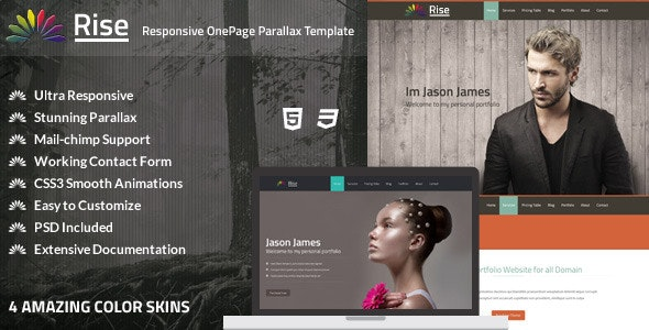 Rise | OnePage Responsive Parallax HTML - Creative Site Templates