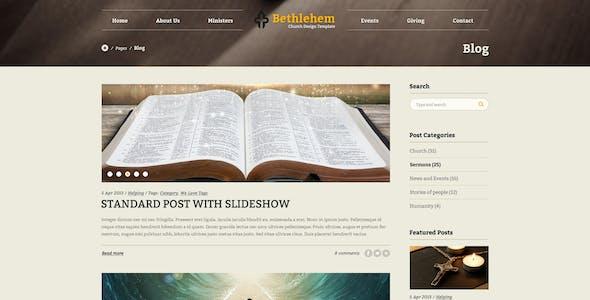 Bethlehem - Multipurpose Church PSD Template