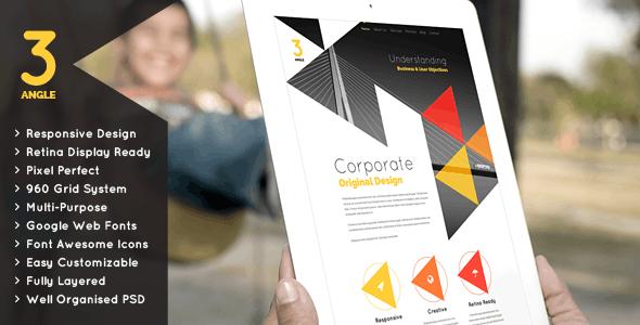 3Angle - Creative & Modern MultiPurpose Theme - Corporate Photoshop