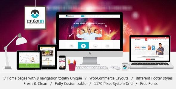 MukamMulti Purpose PSD Theme - Corporate Photoshop